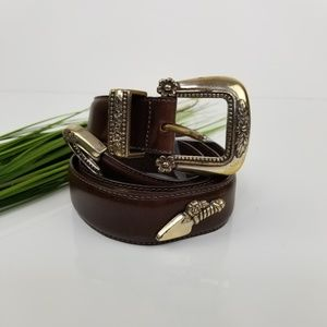 Talbot's Genuine Leather Garden Inspired Belt